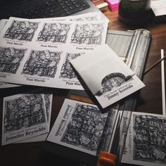I am busy printing, cutting and packaging my personalized bookplates for friends, coworkers and family. I scan my drawing, format the...