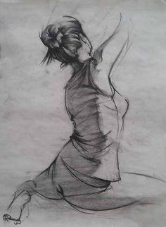 Young Female Figure Drawing By Marcin Warzecha