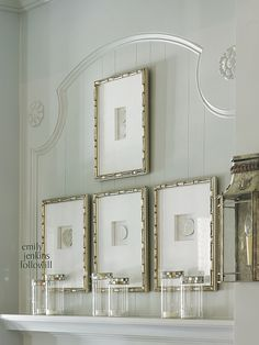 The decorative details of the wall make it as much a piece of art as any of the pieces that are mounted and framed. Four Beautiful Homes–2012 edition