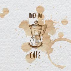 Poster - Hora do café Coffee Doodle, Coffee Cup Art, Coffee Poster, Coffee Is Life, Coffee Cafe, My Coffee, Coffee Shop, Poster Café, Cafe Posters