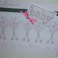 Baby, Pink Carriages from Callie's Cards and Crafts