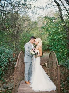 Absolutely stunning couple portrait on our nature preserve bride #cedarwoodweddings Photography : Julie Paisley Read More on SMP: http://www.stylemepretty.com/tennessee-weddings/nashville/2016/03/24/rustic-fall-wedding-at-nashvilles-cedarwood/