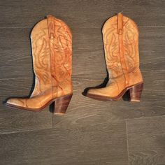 Coachella Vibes ✌️☀️ Vintage Miss Capezio Boots Hard to find vintage Miss Capezio cowboy boots. PERFECT for Coachella and music festivals. Boots have some tearing on leather straps at top, but can be easily fixed by a good cobbler. Otherwise the leather is in good condition and the boots are solid. Heel and sole are in very good condition (see photo). Miss Capezio boots sell for $200+ on ebay. Miss Capezio Shoes Heeled Boots