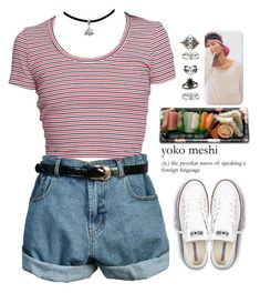 """""""90s Vibe >.<"""" by queenbrittani ❤ liked on Polyvore featuring Jura, Converse, Relic, Charlotte Russe and Topshop"""