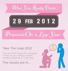 Wedding proposals... on a leap year. Infographic designed by First 10 for The Last Detail