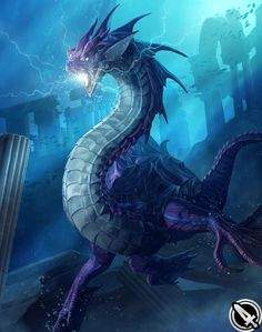 View an image titled 'Syldra Art' in our Mobius Final Fantasy art gallery featuring official character designs, concept art, and promo pictures. Mobius Final Fantasy, Final Fantasy Art, Legendary Dragons, Sea Dragon, Water Dragon, Dragon Artwork, Dragon Pictures, Fantasy Monster, Monster Design