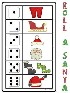 Santa dice game - build your Santa