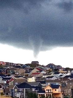 Great shot of the funnel cloud over Paradise, Newfoundland