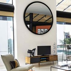STRATFORD metal mirror in black - 159cm sq! Amazing!