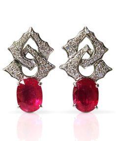 Sharart Design Art Deco Ruby earrings