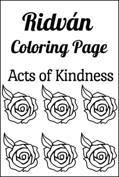 Spread joy during the Ridvan festival this year with this simple activity for families: a Ridvan coloring page to celebrate acts of kindness! Easy Coloring Pages, Printable Coloring Pages, Summer Activities For Kids, Summer Kids, Act Of Kindness Quotes, Kindness Challenge, Fun Live, Celebration Around The World, Holidays Around The World