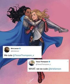 Carol and Brunnhilde Captain Marvel, Marvel Avengers, Ms Marvel, Marvel Comics, Marvel Fan Art, Marvel Women, Avengers Memes, Marvel Funny, Marvel Cartoons