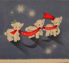 1176-50s-Sweet-Little-Lambs-Vintage-Christmas-Card-Greeting