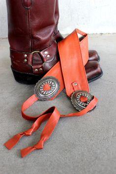 Vintage Concho Belt Southwestern Vegan Leather by SouthwestVintage, $29.50