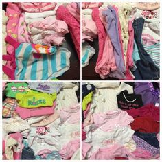 huge lot of girls 0-3 months clothes *3 pajamas  *30+ onesies  *3 sweaters- see 2nd picture  *6 tights 3pink 3white  *7 shorts\underdress bottoms *11 bottoms  *9 long sleeve onesies  *3 short cardigans cream,red,pink  *1 swimsuit  *15 outfits Onesie tops are so cute could mix and match with bottoms to make more outfits or wear solo for summer. Some maybe 10 onesies have small stains barley noticeable (I haven't used a pretreatment on them but threw them in this lot incase you would like just…
