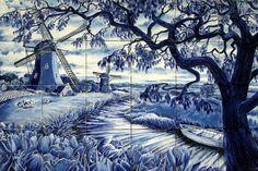 Delft Blue : Dutch landscape