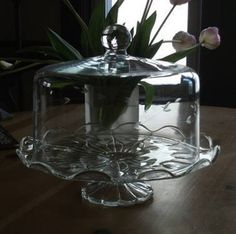 I have this cake stand. I do too, I've had it for 40 years! It's Princess House! Tiered Cake Stands, Cake Stand With Dome, 3 Tier Cake Stand, Cake Dome, Cake And Cupcake Stand, Antique Dishes, Vintage Dishes, Vintage China, Vintage Kitchen
