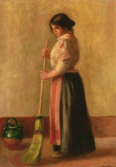 Pierre-Auguste Renoir, The Sweeper, 1889, 65 cm x 46 cm, Oil on canvas, Private collection.