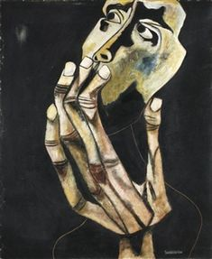 Face and hand # 1 and # 2 By Oswaldo Guayasamín