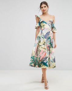 ASOS Tropical Dress Source by lainawing Dresses Tropical Wedding Dresses, Red Wedding Dresses, Tropical Dress, Wedding Dresses Plus Size, Wedding Dress Shopping, Wedding Outfits, Wedding Attire, Boho Wedding, Wedding Ideas