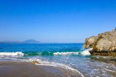 Strand, hav, kyst, vann, natur, sand