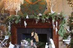 Decorating the mantle for the holidays...