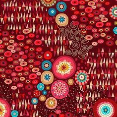 Makower UK - Aurelia - Aura in Red