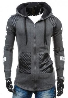 e3f2ab61a7 Mens Slim Trendy Zip-Up Hoodie Trendy Hoodies