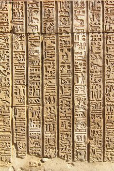 Hieroglyphs at Kom Ombo, Egypt