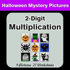 9 Mystery Pictures with 27 Worksheets. Each worksheet includes 10 unique problems. Directions: Solve the math problem, look at the color next to it, and then color in ALL of the squares that have that answer. Math Coloring Worksheets, Number Worksheets, Chemistry Worksheets, Music Worksheets, Money Worksheets, Simplifying Fractions, One Step Equations, Cvce Words, Algebraic Expressions