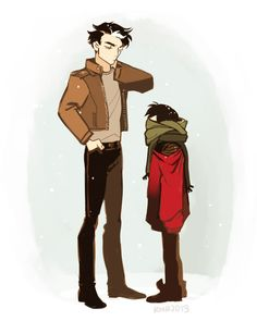 "runmonsterun: "" Jason Todd babysitting a Mini Tim """