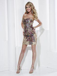 2013 Hannah S 27812 Gold Peacock Homecoming Dresses
