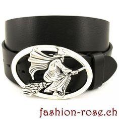 Trendiger Lederguertel mit Guertelschnalle HexeHexe Belt, Accessories, Fashion, Fashion Styles, Crocodile, Silver Jewellery, Witches, Metal, Nice Asses