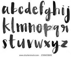 Modern Vector Watercolor Font Alphabet with Brushed Lettering Painted Letters Bullet Journal Alphabet, Bullet Journal Font, Hand Lettering Alphabet, Typography Letters, Calligraphy Fonts, Modern Calligraphy, Brush Letters, Fonte Alphabet, Paint Font