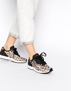 adidas Brown ZX Flux Animal Print Trainers..ohhhhhh <3 <3 <3 <3