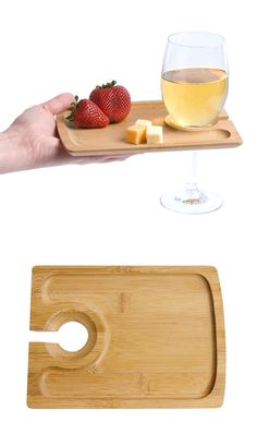 Finally, somebody invented this plate so you can hold both your wine glass and snacks with one hand!! Brilliant! #product_design
