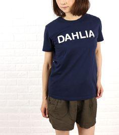 dahl'ia(ダリア) コットン 半袖 ロゴアップリケ Tシャツ・DTH-103  #dahl'ia