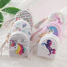 Dreamy Pastel Unicorn Zippered Wallet Coin Purse Bag by Kawaii Babe Coin Bag, Coin Purse Wallet, Card Wallet, Pouch, Coin Purses, Bag Packaging, Leather Keychain, Girls Bags, Backpack Bags