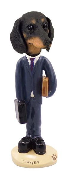 Dachshund Black Lawyer Doogie Collectable Figurine