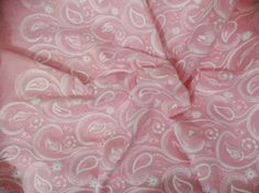 1 yard  Indian Cotton Fabric, Chikan work, Chikankari, Pink fabric with embroidery, embroidered fabric