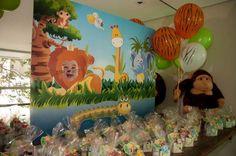 decoracao festa infantil safari