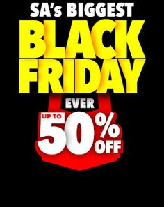 SA'S BIGGEST BLACK FRIDAY EVER Ribbed Crochet, Red Friday, Big Black