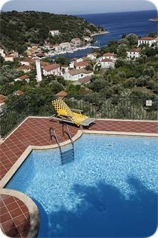 Wonderful Ithaka apartments in Kioni, ithaki. Likoudis Ithaka Villas offers magnificent view of Kioni, the port and the Ionian sea. Apartments and villas in Ithaka