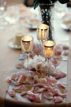 pink-wedding-reception-candles