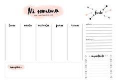 Agenda Planner, Study Planner, Teacher Planner, Planner Pages, Bullet Journal School, Bullet Journal Inspiration, Week Planer, Good Notes, School Notes