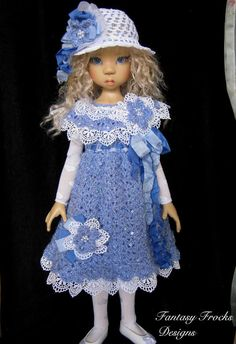 """""""Crystal Blue"""" 6 PC for Kaye Wiggs MSD & similar by Fantasy Frocks #ClothingAccessories"""