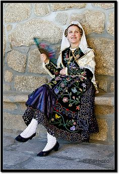 Charro folk dress from Salamanca in western Spain. by grebarsan, via Flickr