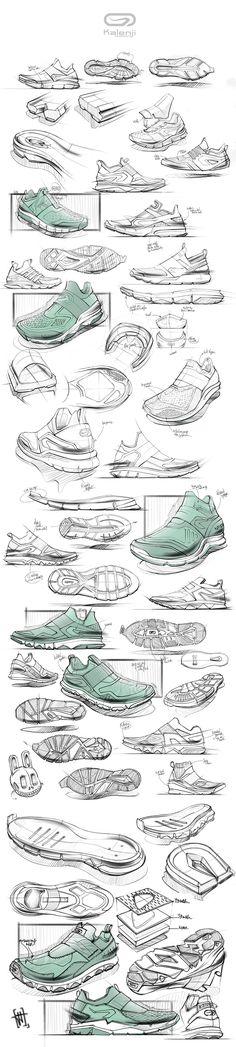 제품 디자인. 신발 디자인. 스케치  Production Design, Shoes Design, Design Sketch