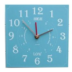 Most important clock needed in Maine. Tide Clock, Time And Tide, Coastal Lighting, Paper Packaging, Coastal Style, Recycling, Handmade, Blue, Maine