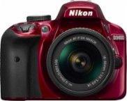Nikon - D3400 DSLR Camera with AF-P DX NIKKOR 18-55mm f/3.5-5.6G VR Lens - Red - Larger Front